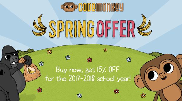 CodeMonkey Spring Offer 042017
